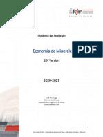 programa economia de minerales 2020 2021