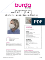 burda Maske 1 Download-Schnitt