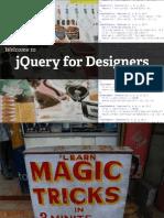 JQuery for Designer