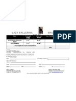Lazy Ballerina Order Form Whites