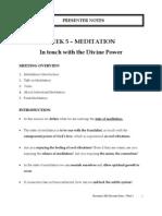 Week05 Presenter Meditation