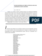 ABORDAGEM FENOMENOLOGICOEXISTENCIAL DO TEMPO A PARTIR DO LIVRO XI DE CONFISSOES DE SANTO AGOSTINHO Dr Joao Bosco Batista