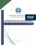 Exercicios de Estatística 1