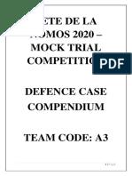 TEAM A3 - DEFENCE CASE COMPENDIUM