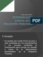 determinacion judicial de la obligacion tributaria