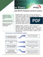 Phoenix SecureCore Tiano Datasheet