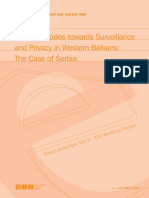 Public Attitudes towards Surveillance and Privacy in Western Balkans_The Case of Serbia