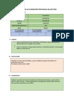 FORMATO REPORTE II.EE. DE LA II MARATÓN PROVINCIAL DE LECTURA