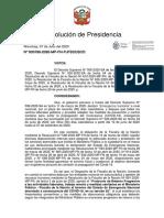 Resolucion de Presidencia lineamientos
