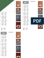 Semne de carte 2021 cu calendar