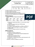 Devoir de Contrôle N°1 1er Semestre - Math - 3ème Economie & Gestion (2018-2019) Mr Dkhili Ahmed