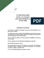 Exámenes CUID INGLÉS 06 (reserva) soluciones