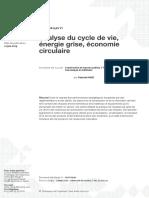 cycle de vie, energie grise, economie circulaire 43820210-tba1420