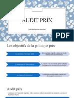 Audit Prix