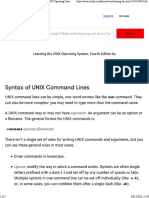 Syntax of UNIX Command Lines - Learning the UNIX Operating System, Fourth Edition [Book]