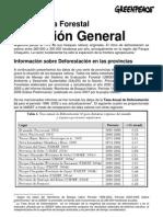 información sobre deforestación por provincia