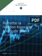 Remettre la notation financière à sa juste place