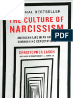 The Culture of Narcissism American Life in An Age of Diminishing Expectations by Christopher Lasch