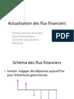 Actualisation des flux financiers avec rappel Math Fi