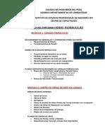 TEMARIO DIPLOMA DE OBRAS HIDRAULICAS