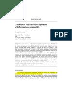 Analyse et conception de systèmes Cooperatifs