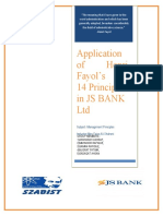 Management Report on JS Bank ltd