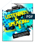 Listening ans Speaking II Unidad didactica