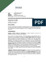 DISPOSICIÓN DE APERTURA DE INVESTIGACION PRELIMINAR