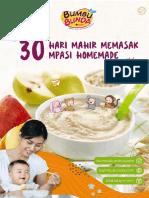 30 Hari Mahir Memasak MPASI Homemade