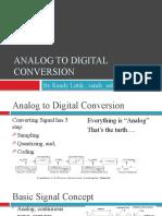 Analog to digital conversion (not yet finish)