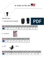 Clothing Sizes in the Usa