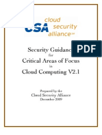 x 2010 Security Guidance for Critical areas of focus in cloud computing v2.1