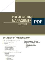 Lecture 3-Project Scheduling & Time Management