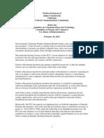 Written Statement Chairman Julius Genachowski 2011-02-16