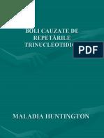 BOLI CAUZATE DE REPETĂRILE TRINUCLEOTIDICE
