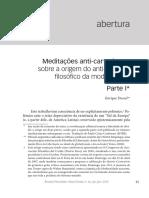 Meditações anti-cartesianas. Enrique Dussel
