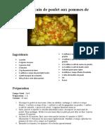 Tajine marocain de poulet aux pommes de