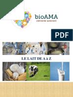 Le lait et les produits laitiers, bioAMA