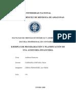 Ejemplo de Plan de Auditoria Financiera