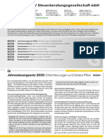 LHV Steuerberatung Steuerinformation Gewerbe Q4 2020