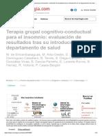 Terapia grupal cognitivo-conductual para el insomnio_ evaluación de resultados tras su introducción en un departamento de salud _ Neurología.com