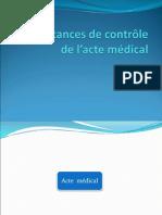 les instances de control de l'acte médical serhane