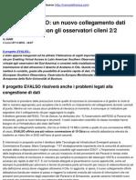 Progetto EVALSO_ un nuovo collegamento dati ad alta velocità con gli osservatori cileni  2_2 - 2010-11-11