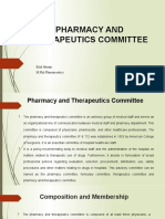 PHARMACY AND THERAPEUTICS COMMITTEE edited 12345.pptx