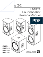 Live X Passive Loudspeaker Owners Manual