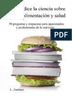 Lo Que Dice La Ciencia Sobre Dietas, alimentacion y salud-L.Jimenez
