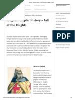 Knights Templar History - The Fall of the Knights Templar