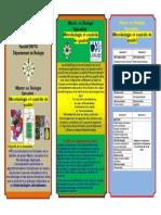 Dépliant Master Microbiologie et Contrôle de Qualité