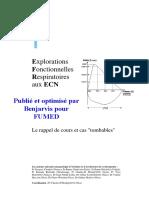 Explorations Fonctionnelles Respiratoires aux ECN par le CEP
