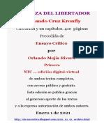 LA CENIZA DEL LIBERTADOR. Fernando Cruz Kronfly. Novela Ed. virtual de  NTC.  Enero 1, 2020